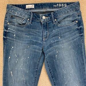 Gap Women's ALWAYS SKINNY graffiti jeans 28
